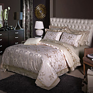 cheap High Quality Duvet Covers-Luxury Silk Cotton Blend Duvet Cover Sets Queen King Size Bedding Set