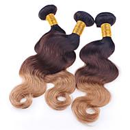 Âmbar Cabelo Brasileiro Ondulado 3 Peças tece cabelo