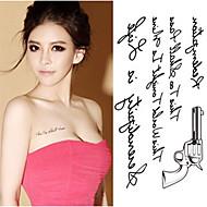1pcs-Autres-Doré-Motif-10.5*6cm- enPVC-Tatouages Autocollants-RC-Homme / Femme / Adulte