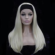 Vrouw Synthetische pruiken Zonder kap Lang Krullend Kastanjebruin Goud Bruin Beige Blond Bleach Blonde Capless Pruiken Halloween Pruik