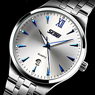 SKMEI® Men's Dress Watch Japanese Quartz Calendar/Water Resistant Stainless Steel Wristwatch Cool Watch Unique Watch Fashion Watch