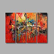 levne -Hang-malované olejomalba Ručně malované - Abstraktní Moderní Plátno