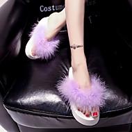 baratos Sapatos Femininos-Feminino Primavera Verão Outono Tecido Social Plataforma Preto Roxo Vermelho Verde Rosa claro 5 a 7 cm