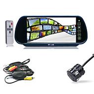 "cheap Car Rear View Camera-7"" LCD Car Rear View Reverse Mirror Monitor + Wireless IR Backup Camera Cam Kit"