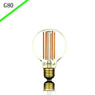 billige Glødelampe-1pc 6W E27 E26 B22 G80 Varm hvit Kjølig hvit 2300 K LED-glødepærer AC85-265 AC 220V AC 85-265V V