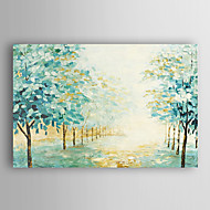 Hand Painted Oil Painting Landscape Mint Green Woods with Stretched Frame 7 Wall Arts®