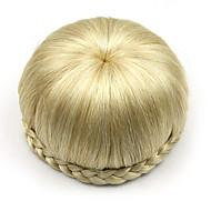 kinky krøllete gull menneskelige hår blonder parykker chignons 1003