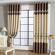 Χαμηλού Κόστους Curtains-Πάνω Ροδέλα Στενό Πλισέ Two Panels Θεραπεία Παράθυρο Ευρωπαϊκό, Κούφιο Patchwork Σαλόνι Πολυεστέρας Υλικό κουρτίνες κουρτίνες Αρχική