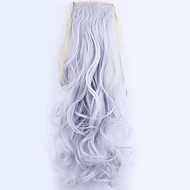 20 inch Silver Grey Clip In Wavy Curly Ponytails Synthetic Hair Piece Hair Extension