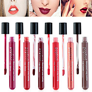 6 Selectable Colors Popfeel Full-Coverage Long Lasting 24 Hour Not Rub Off Matte Waterproof liquid Lipstick Lip Gloss