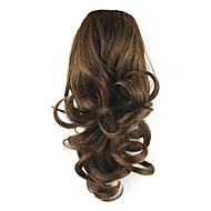14 inch Brown Drawstring Curly Ponytails Elastic Synthetic Hair Piece Hair Extension
