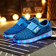 tanie Obuwie dziewczęce-Dla dziewczynek Buty Materiał do wyboru Wiosna Lato Jesień Świecące buty Comfort Tenisówki LED Haczyk i pętelka na Casual Na wolnym