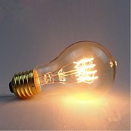 E27 AC220-240V 40W Silk Carbon Filament Incandescent Light Bulbs A19 Around Pearl