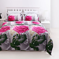 3D Pattern Design Printed  Bedding Sets 4pcs Comforter Sets Queen Size Duvet Cover Bed Sheet