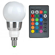 billige Globepærer med LED-100-200 lm E14 LED-globepærer A50 1 LED perler Høyeffekts-LED Fjernstyrt RGB 85-265 V / 1 stk.