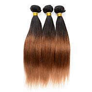 Ombre Perulainen Straight 6 kuukautta 3 osainen hiukset kutoo