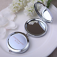 cheap Practical Favors-Wedding Anniversary Bridal Shower Birthday Party Tea Party Baby Shower Chrome Compacts Classic Theme - 1