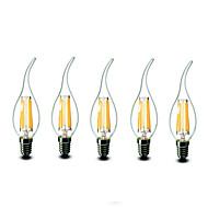 E14 LED svíčky CA35 6 lED diody COB Stmívatelné Teplá bílá 600lm 2700K AC 220-240V