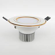 billige Innfelte LED-lys-200-450 lm 5 LED perler Mulighet for demping Dekorativ Led-Nedlys Varm hvit Kjølig hvit Naturlig hvit 220-240 V 110-130 V 85-265 V Hjem / kontor Barneværelser Kjøkken / 1 stk. / RoHs