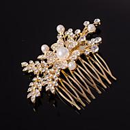 sølv / guld bladform krystal perle hår kamme til bryllupsfest dame