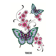 Temporary Tattoos Waterproof / 3D Face / Hand / brachium PVC(PolyVinyl Chloride) Tattoo Stickers