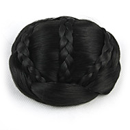 kinky krøllete svart brud veve menneskelig hår hetteløs parykker chignons 2