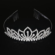 cheap Wedding Headpieces-Alloy Tiaras Headwear with Floral 1pc Wedding Special Occasion Headpiece
