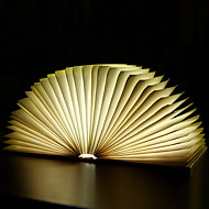 yaratıcı flip kitap sayfası sıcak beyaz led gece lambası roman katlanır kitaplar usb yatak lambası