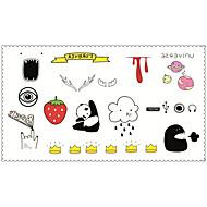 abordables -Tatouages Autocollants Séries bijoux Séries animales Séries de fleur Séries de totem Dessins Animés Non Toxique Motif Imperméable