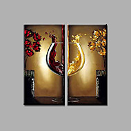 cheap Oil Paintings-Hand-Painted Still Life Horizontal, Modern Canvas Oil Painting Home Decoration Two Panels