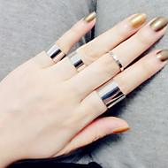 Dame Band Ring / Midi Ring - Sølv Kærlighed Vintage, Mode En størrelse Sølv / Gylden Til Bryllup / Fest / Gave