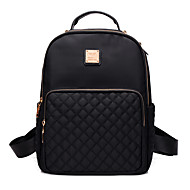 cheap Backpacks-Women's Bags Nylon Cover / Backpack Solid Colored Black
