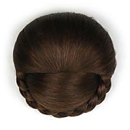 Brown Classic Chic & Modern Hair Bun Updo High Quality chignons Hair Accessory Synthetic Hair Hair Piece Hair Extension Classic Chic &