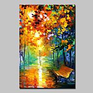 Hang-geschilderd olieverfschilderij Handgeschilderde - Abstracte landschappen Modern Met Frame