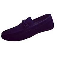 billige Skosalg-Herre sko Kunstlær PU Vår Høst Komfort Mokkasin 一脚蹬鞋、懒人鞋 Gange Bølgemønster Til Avslappet Svart Grå Blå