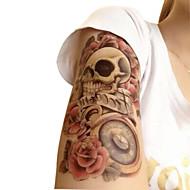 Ikke Giftig / Mønster / Halloween Midlertidige Tatoveringer Blomster Serier Halloween / Stor Størrelse Kropskunst arm