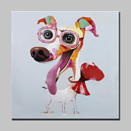 יד לאגר ציור שמן כלב חברים בעלי חיים צויר על מסגרת כהוא עיצוב בית תמונת אמנות בד קיר