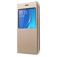 Mert Samsung Galaxy tok Betekintő ablakkal / Flip Case Teljes védelem Case Egyszínű Kemény Műbőr SamsungJ7 (2016) / J7 / J5 (2016) / J5 /