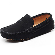 cheap Boys' Shoes-Boys' Shoes Leather Spring Summer Light Soles Loafers & Slip-Ons for Casual Outdoor Black Gray Brown Royal Blue