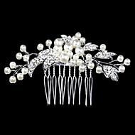 billiga Brudhuvudbonader-Pärla Kristall Bergkristall Legering Hair Combs 1 Bröllop Speciellt Tillfälle Casual Hårbonad