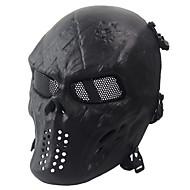 voordelige Veiligheid-zwart tactische beschermend masker schedel masker legerventilators leven cs gebied van essentieel belang