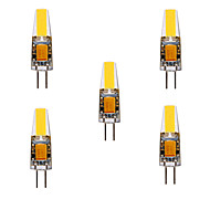 ywxlight® g4 led bi-pin lumini mr11 4 cob 460 lm cald alb rece alb decorativ dc / ac 12v dc / ac 24v 5pcs