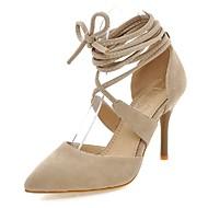 tanie Small Size Shoes-Damskie Polar Wiosna / Lato Gladiatorki Szpilka Szurowane Czarny / Beżowy / Czerwony / Impreza / bankiet / Formalne spotkania / Impreza / bankiet