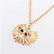 colar de coruja de moda colar de flor selvagem estilo feminino clássico