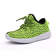 baratos Sapatos de Menina-Para Meninas Tênis Tule Verão Atlético Tira Trançada Rasteiro Cinzento Vermelho Rosa claro Verde Claro Azul Real Rasteiro