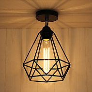 billige Taklamper-CXYlight Takplafond Omgivelseslys - Mini Stil, Rustikk / Hytte Vintage Lanterne Land Traditionel / Klassisk Retro Rød, 110-120V 220-240V