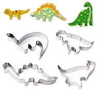 Stainless Steel Dinosaur Cookie Cutter Mold Cake Fondant Biscuit Baking Mould,Set of 4