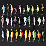cheap Fishing-30 pcs Hard Bait Swimbaits Minnow Crank Pencil Vibration/VIB Lure kits Fishing Lures Lure Packs Vibration/VIB Crank Minnow Jerkbaits Hard