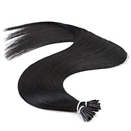 Neitsi Jet Black Straight Keratin I Tip Stick Remy Prebonded Hair Extension 25g/lot