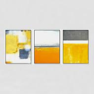 billige Innrammet kunst-Innrammet Oljemaleri Abstrakt Veggkunst, Polystyrene Materiale med ramme Hjem Dekor Rammekunst Stue Innendørs